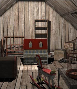 Dusty Attic (Poser, VUE & OBJ) 3D Models RPublishing