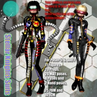 Stellar Knights Suits 3D Models 3D Figure Essentials Bugzlife