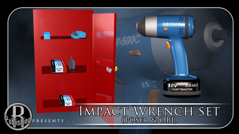 Impact Wrench Set (Poser & OBJ)