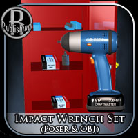 Impact Wrench Set (Poser & OBJ) 3D Models RPublishing