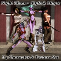 Night Elves - Myth & Magic 3D Figure Assets 3D Models greyson5