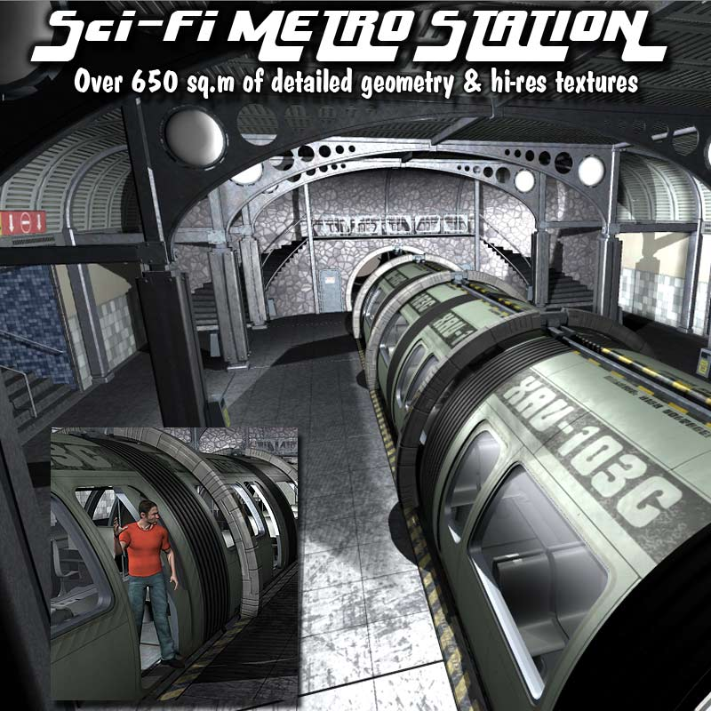 Sci-Fi Metro/Subway Station