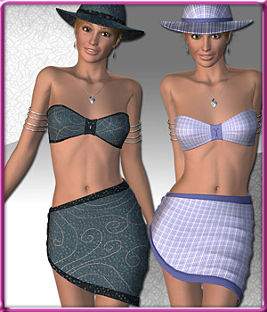 Beach Fashion for V4 3D Figure Assets karanta