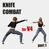 Knife combat Poses/Expressions PainMD