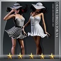 Desire-Dress for Vicky 4 3D Figure Assets kaiZ