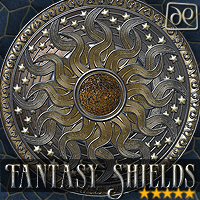 Fantasy Shields Themed 2D And/Or Merchant Resources -dp-