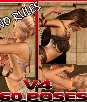 Catfight!  No Rules- V4 3D Models 3D Figure Assets Darkworld