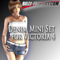 V4 Denim Mini Set 3D Figure Assets billy-t
