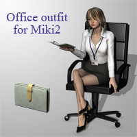 Office outfit for Miki2  3D Figure Essentials kobamax