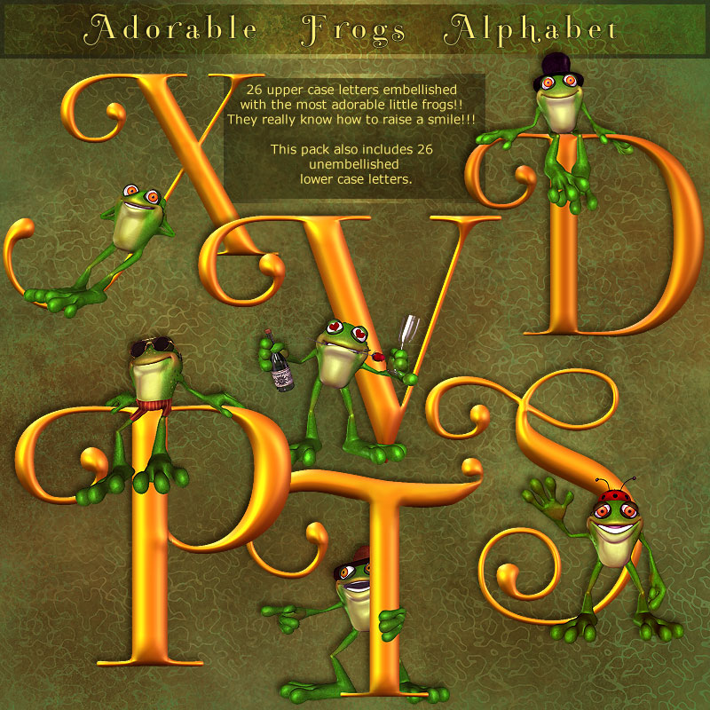 Folkvangar's Adorable Frogs Alphabet