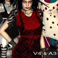 Harlequin Goth Fashion  for Harlequin Goth V4-A3  nirvy