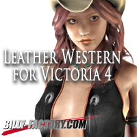 Leather Western for V4 3D Figure Assets billy-t