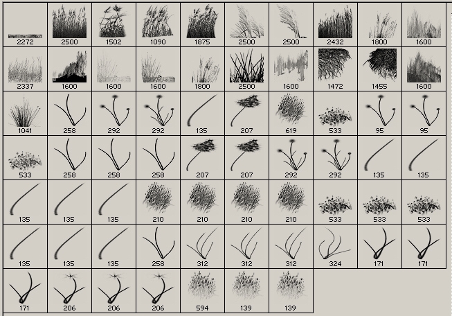 Grass & Reed Brushes