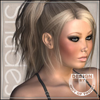 °Total Updo 2 Shades° Textures for Total Updo 2 by Lisbeth 3D Figure Assets outoftouch