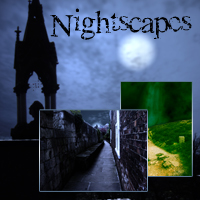 Nightscapes Background Set 3D Models 2D dantescanto