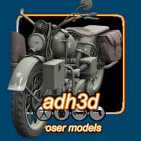 WW2 USA WLA MOTORCYCLE Themed Transportation adh3d