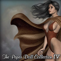 The Paper Doll Collection IV - Cloth & Hair Combo 2D 3D Figure Essentials Rhiannon