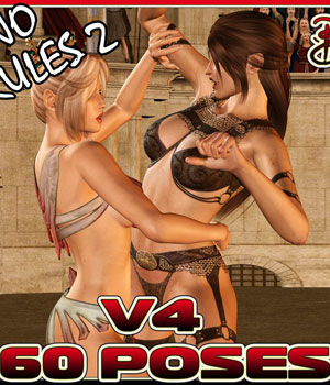 Catfight!  No Rules 2 3D Figure Essentials 3D Models Darkworld