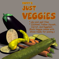 Just Veggies 3D Models pappy411