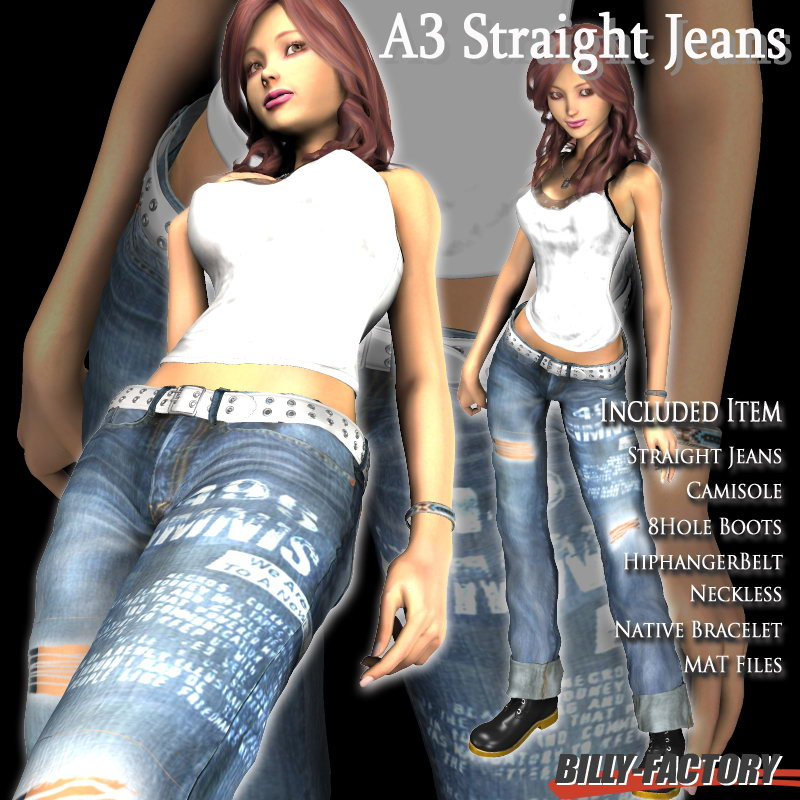 A3 Straight Jeans