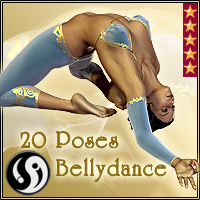 Agrabah Nights: BellyDance Poses 3D Figure Assets CJ-studio