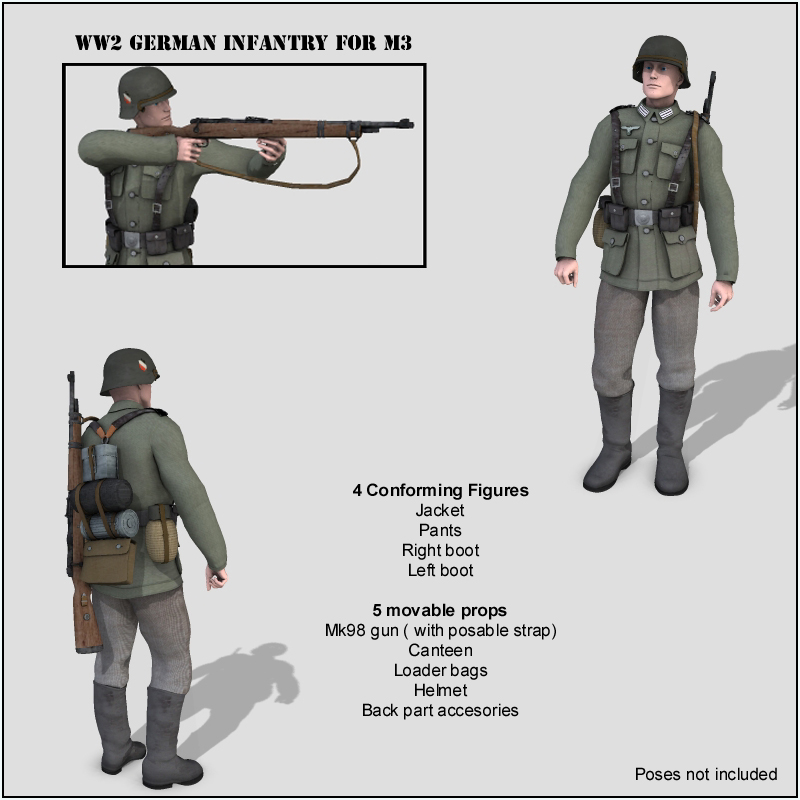WW2 German Infantry M3