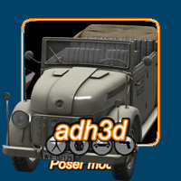 WW2 steyr 1500 command car Themed Transportation adh3d