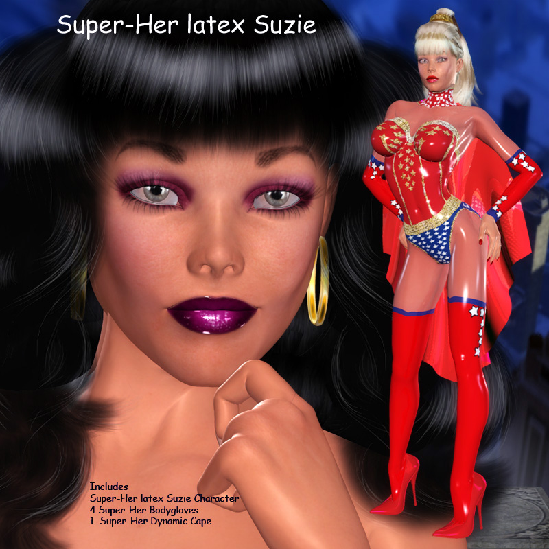 Super-Her Latex Suzie