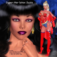 Super-Her Latex Suzie 3D Figure Essentials lululee