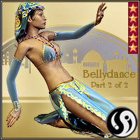 Agrabah Nights: V4 BellyDance part 2 3D Figure Assets CJ-studio
