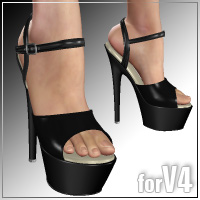 Shoe Pack 2 for V4/A4 3D Figure Assets _Al3d_