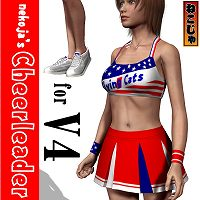 nekoja's Cheerleader for Victoria 4 3D Figure Essentials nekoja