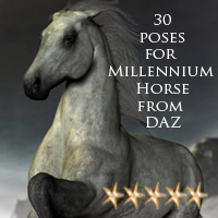 CG Horse Poses 3D Figure Essentials ChristineG