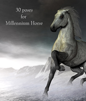 CG Horse Poses 3D Figure Assets ChristineG