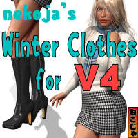 Winter Clothes for Victoria 4 3D Figure Essentials nekoja