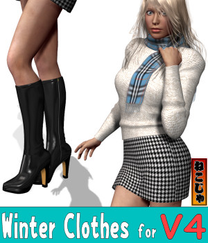 Winter Clothes for Victoria 4 3D Figure Assets nekoja