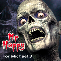 Mr Happy for Michael 3 3D Figure Assets 3D Models grotto