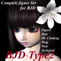 BJD Type2 3D Figure Essentials MayaX