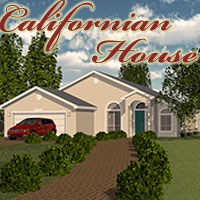 Californian House 3D Models PuzzWizz