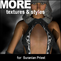 MORE Textures & Styles for Suranian Priest Themed Clothing Software motif