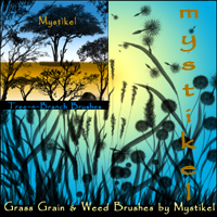 Grass, Grain,  Weeds and Tree, Branch Brushes Themed 2D And/Or Merchant Resources mystikel