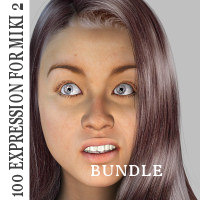 Bundle Expressions for Miki 2.0  3D Figure Essentials WhopperNnoonWalker-