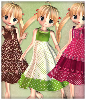 Sweet Summer Gown for NearMe 3D Figure Assets karanta