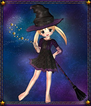 Little Witch for NearMe 3D Figure Assets karanta