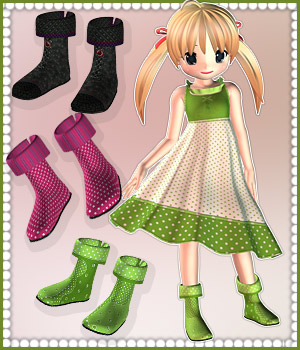 Booties for NearMe 3D Figure Assets karanta