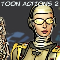 Toon Actions 2 Software 3D Models 2D AdamWright