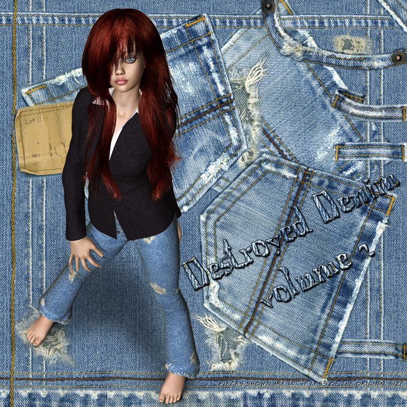 Digital Couturier Destroyed Denim II