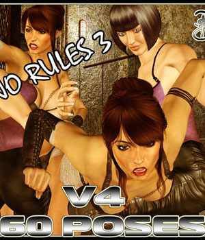Catfight!  No Rules III 3D Figure Assets Darkworld