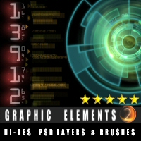 Graphic Elements 2 3D Models 2D Graphics designfera