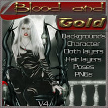 Blood and Gold 3D Figure Assets 2D Graphics ilona